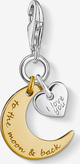 Thomas Sabo Charm-Einhänger 'I LOVE YOU TO THE MOON & BACK' in gold / silber, Produktansicht