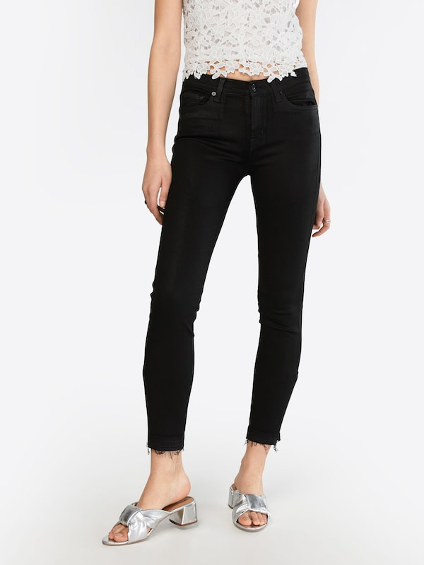 7 for all mankind Jean en noir denim: Vue de face