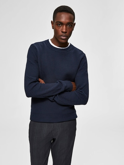 SELECTED HOMME Pullover in dunkelblau: Frontalansicht