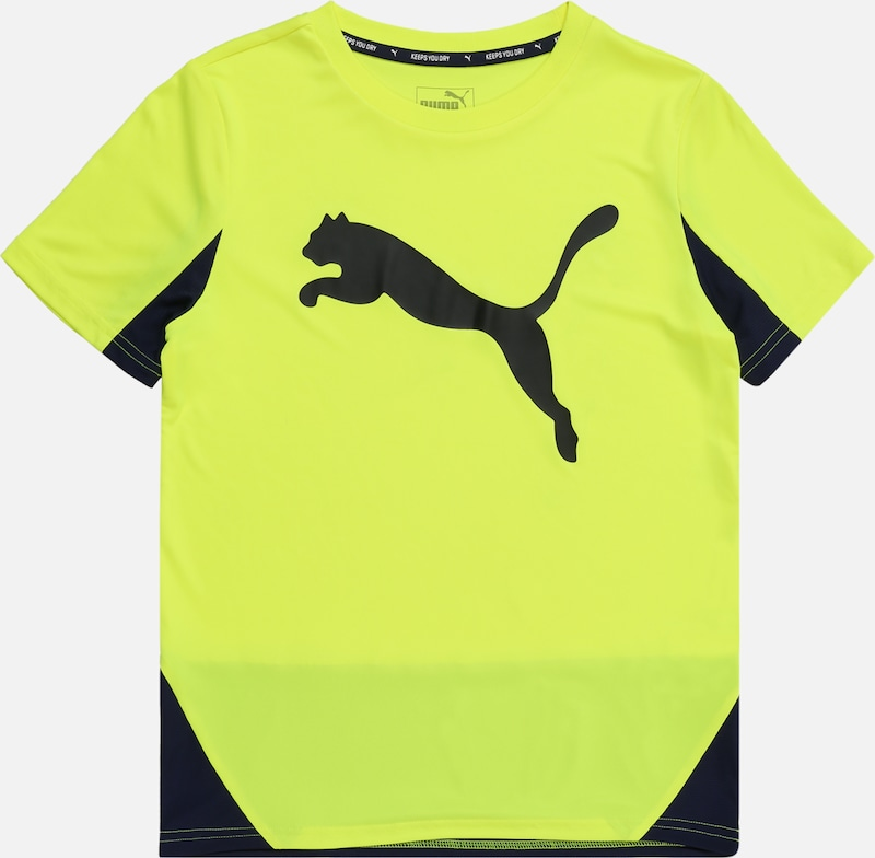 PUMA Shirt  'Cat Graphic Poly' in gelb, Produktansicht