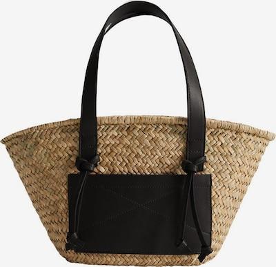 MANGO Tasche in beige / schwarz, Produktansicht