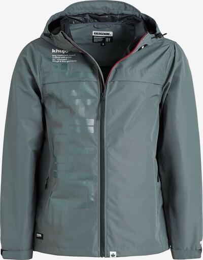 khujo Tussenjas 'ALMOND' in de kleur Grijs / Smaragd, Productweergave