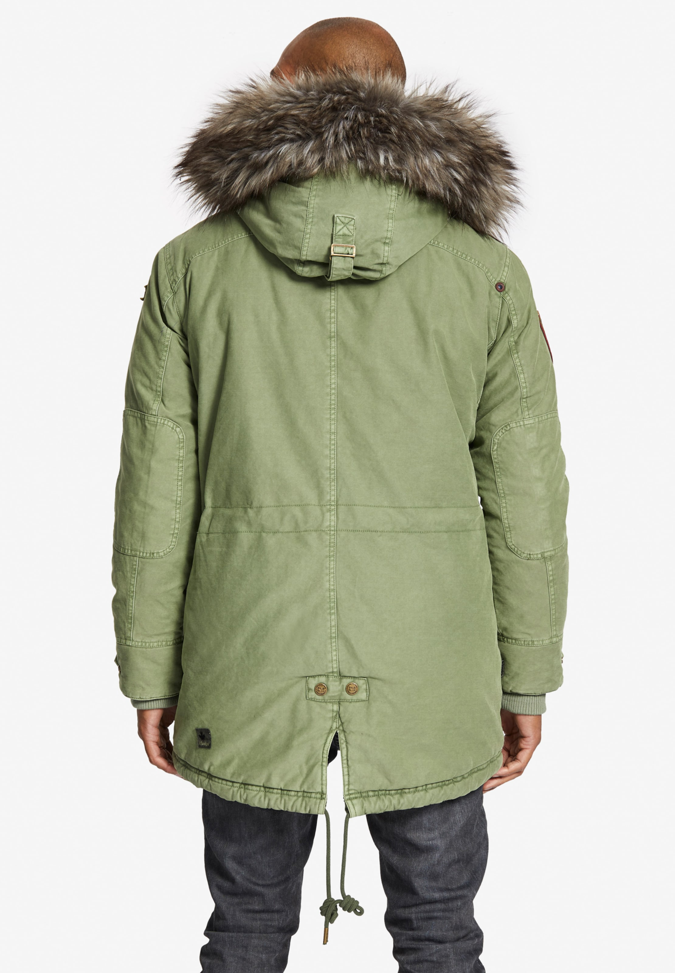 D'hiver Khujo Olive Jacket' En Parka Inner Fur Solid 'unkar With hrdtxsQCB