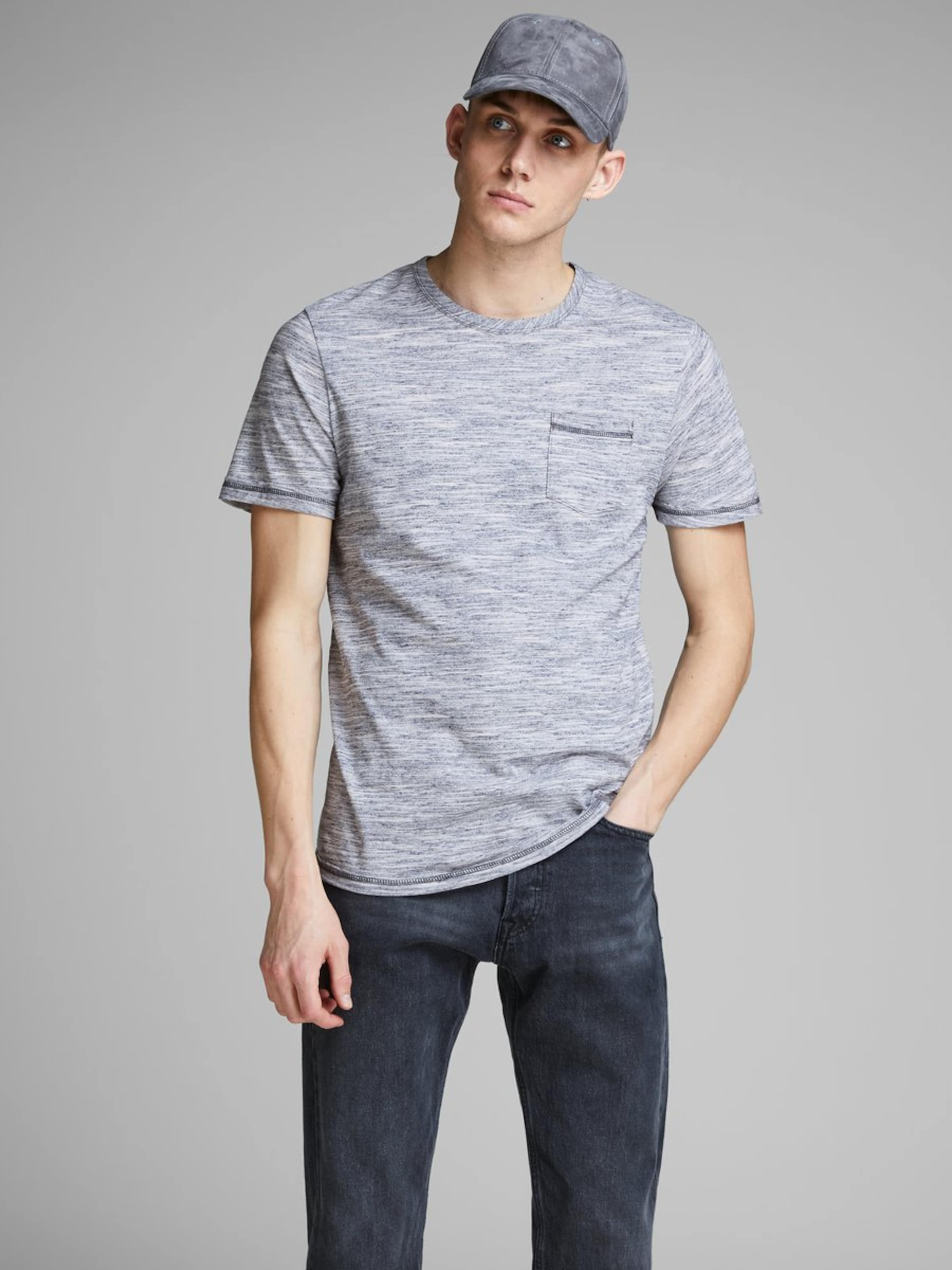 T shirt Jones gris En Bleu Jackamp; WIEDH29