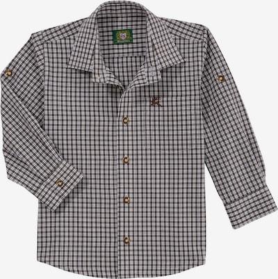 OS-TRACHTEN Hemd in khaki / weiß: Frontalansicht