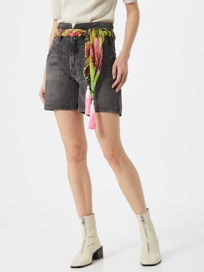 GUESS Shorts 'THE IT GIRL' in grey denim: Frontalansicht