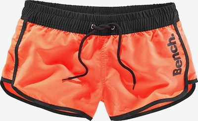 BENCH Badeshorts in orange / schwarz, Produktansicht