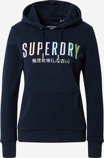 Superdry Sweatshirt 'RAINBOW ENTRY' in de kleur Navy, Productweergave