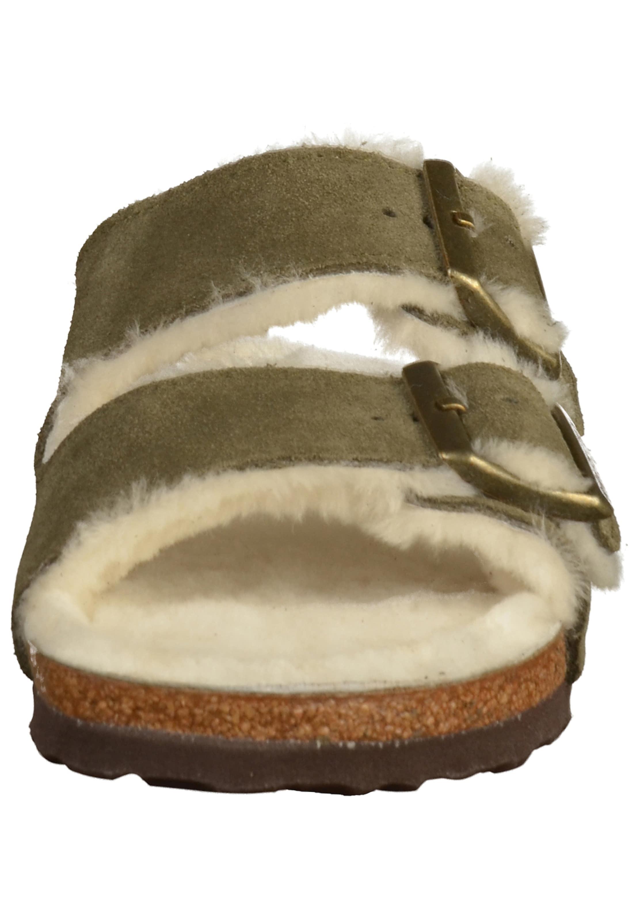 Weiß Pantoletten 'arizona' ChamoisKhaki In Birkenstock wv80mNn