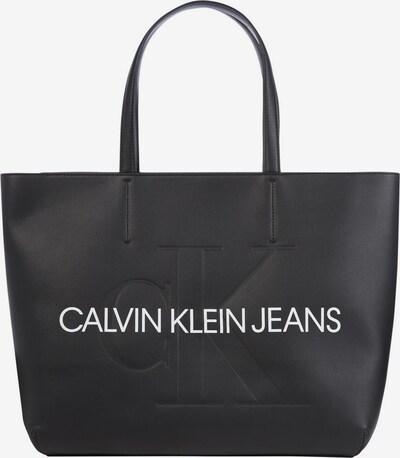 Calvin Klein Jeans Shopper in schwarz / weiß, Produktansicht