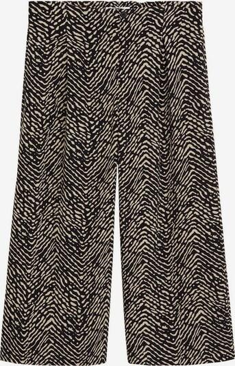 MANGO Pantalon 'Creta' en noir / blanc, Vue avec produit