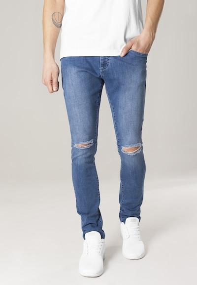 Urban Classics Jeans in blue denim, Modelansicht
