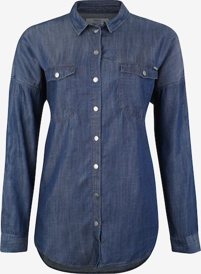ONLY Carmakoma Bluse 'CARKAMMIE' in blue denim: Frontalansicht
