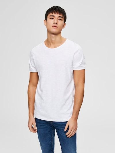Maglietta 'MORGAN' SELECTED HOMME di colore bianco, Visualizzazione modelli