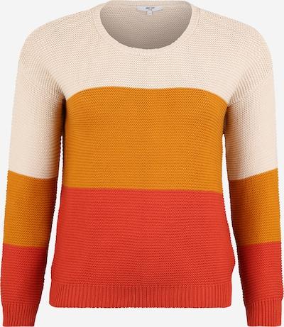 ABOUT YOU Curvy Pullover 'Brenda' in creme / gelb / rostrot, Produktansicht
