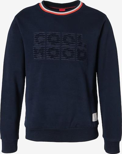 s.Oliver Junior Sweatshirt in nachtblau / hellrot / weiß, Produktansicht