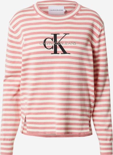 Calvin Klein Jeans Pullover in hellrot / weiß, Produktansicht