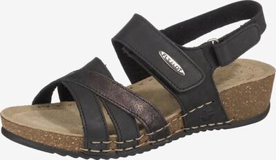 FLY FLOT Sandalen in schwarz, Produktansicht