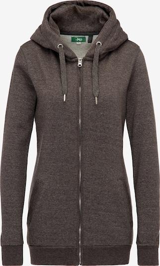 MYMO Zip-Up Hoodie in mottled grey / Orange, Item view