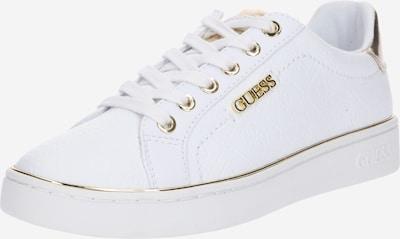 arany / fehér GUESS Rövid szárú edzőcipők 'BECKIE', Termék nézet