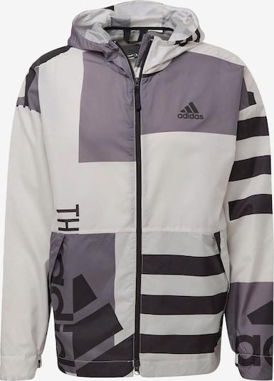 ADIDAS PERFORMANCE Jacke 'Windbreaker' in grau / schwarz / weiß, Produktansicht