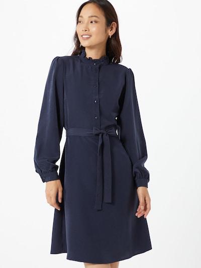 VILA Košilové šaty - námořnická modř: Pohled zepředu