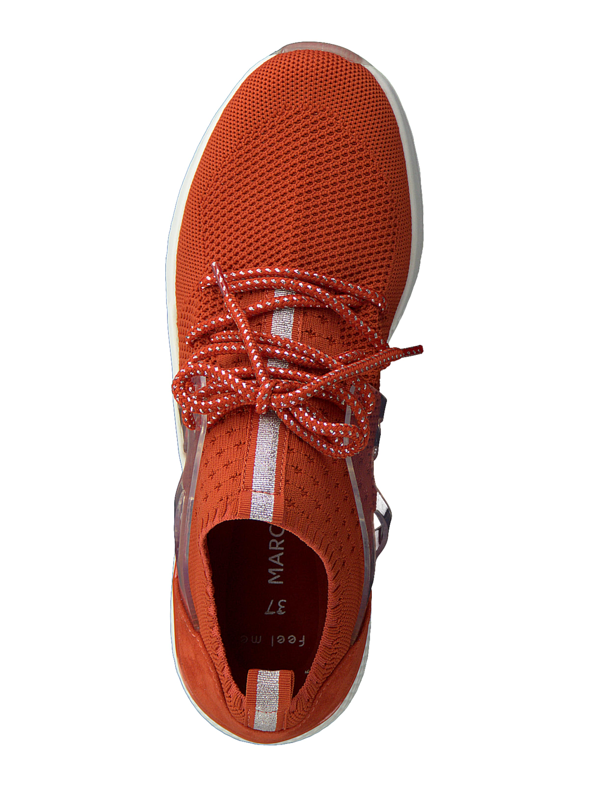 MARCO TOZZI Sneakers laag in Rood / Zilver Tong 2-2-23715-34-608-36
