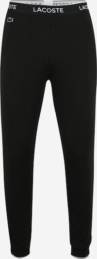 LACOSTE Pidžaamapüksid 'Loungewear' must / valge, Tootevaade