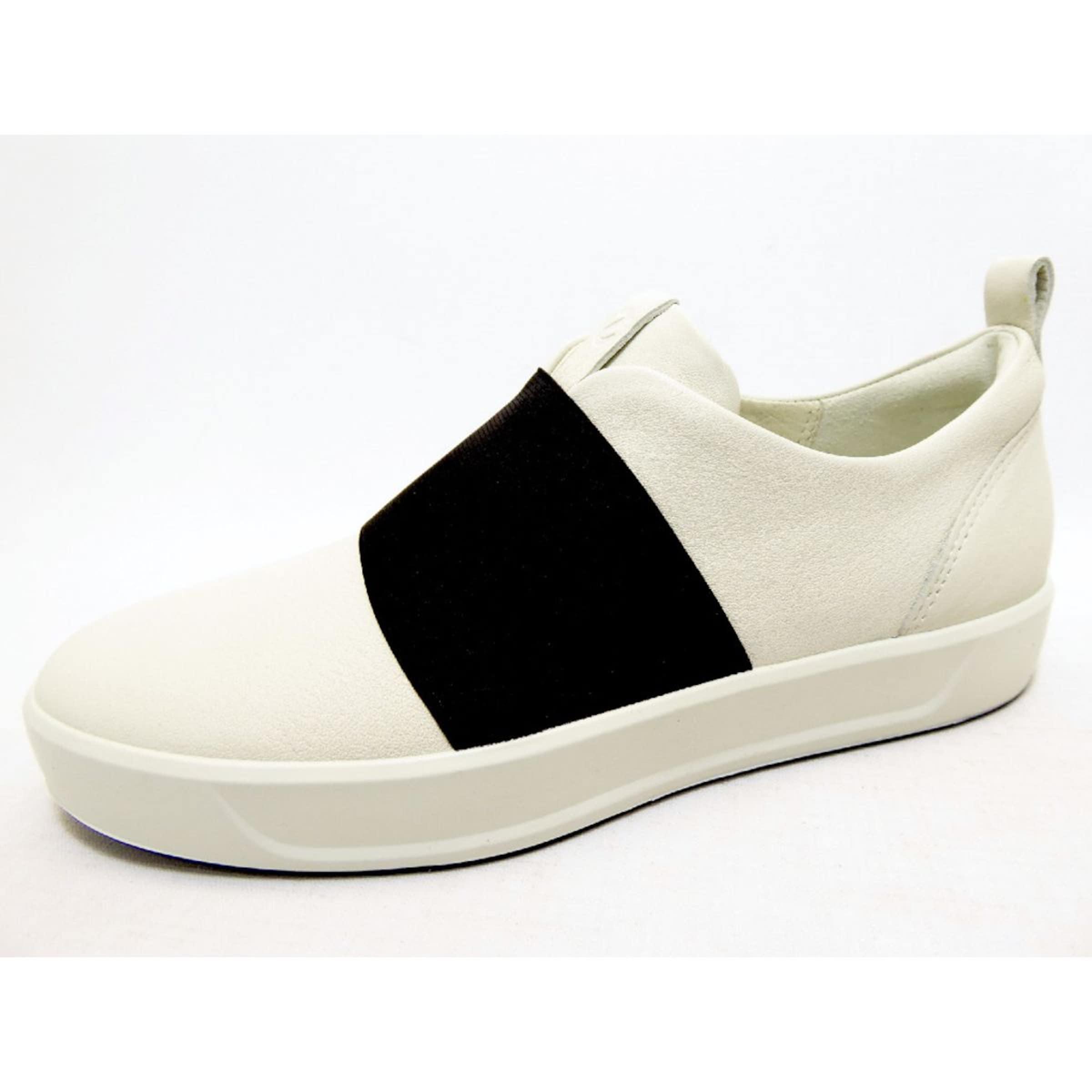 ECCO Slipper in schwarz   weiß