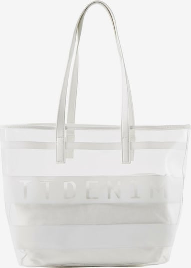 TOM TAILOR DENIM Shopper 'LINARES' in weiß, Produktansicht