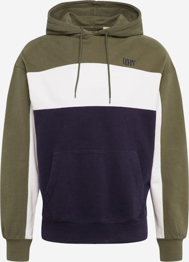 LEVI'S Sweatshirt in de kleur Olijfgroen / Zwart / Wit, Productweergave