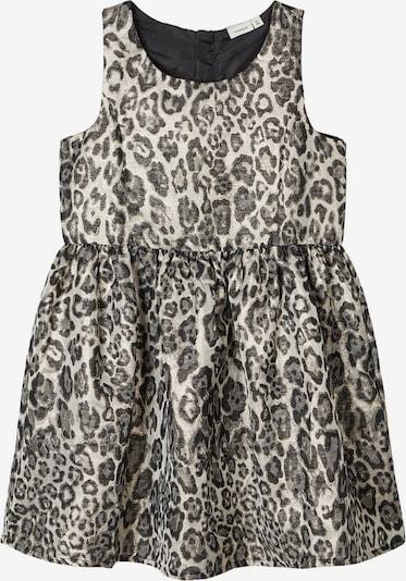 NAME IT Kleid in hellbeige / gold / schwarz, Produktansicht