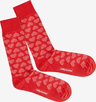 rózsaszín / piros DillySocks Zokni 'Heartful', Termék nézet