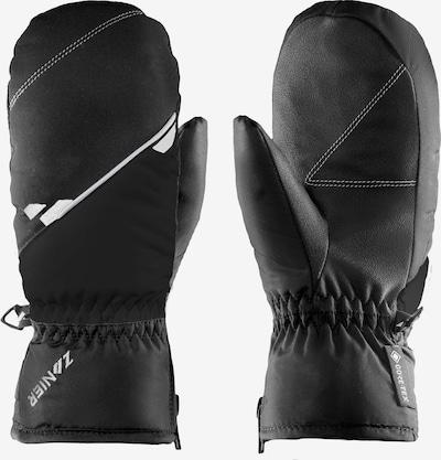 Zanier Fäustlinge in schwarz / weiß, Produktansicht