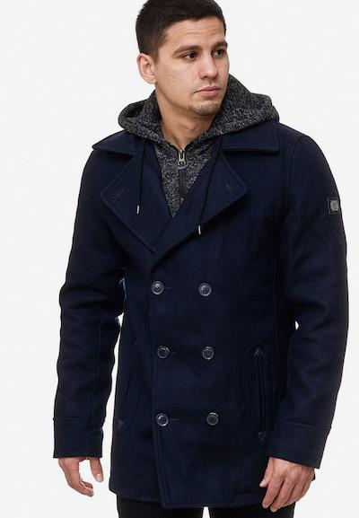 INDICODE JEANS Winterjas ' Cliff Jacke ' in de kleur Navy, Modelweergave