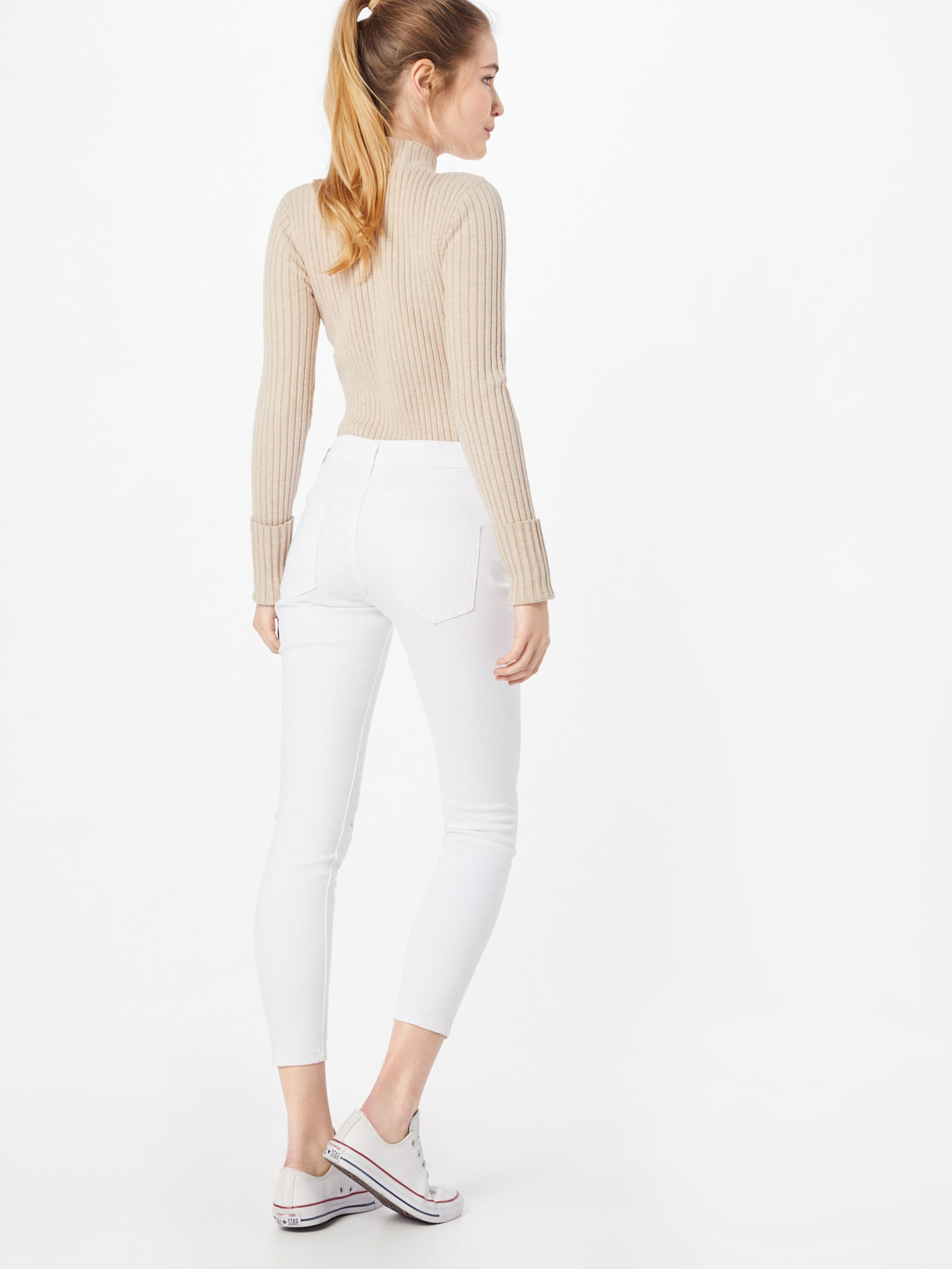 Ink Lost Rip' In Denim Rise Jeans White Skinny 'mid 2IWE9DH