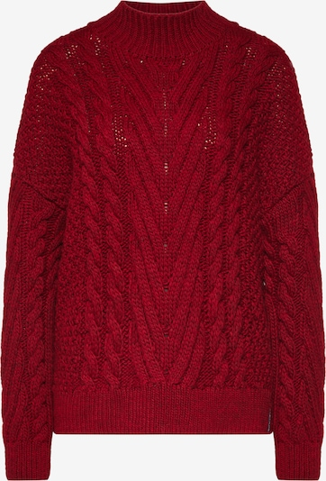Superdry Pullover 'DALLAS CHUNKY CABLE KNIT' in rot, Produktansicht