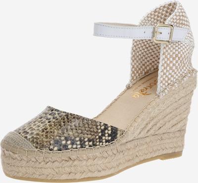 Vidorreta Sandale in beige / grau, Produktansicht