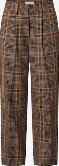 BRAX Kalhoty se sklady v pase 'MARCIE S' - hnědá / tmavě hnědá / medová: Pohled zepředu