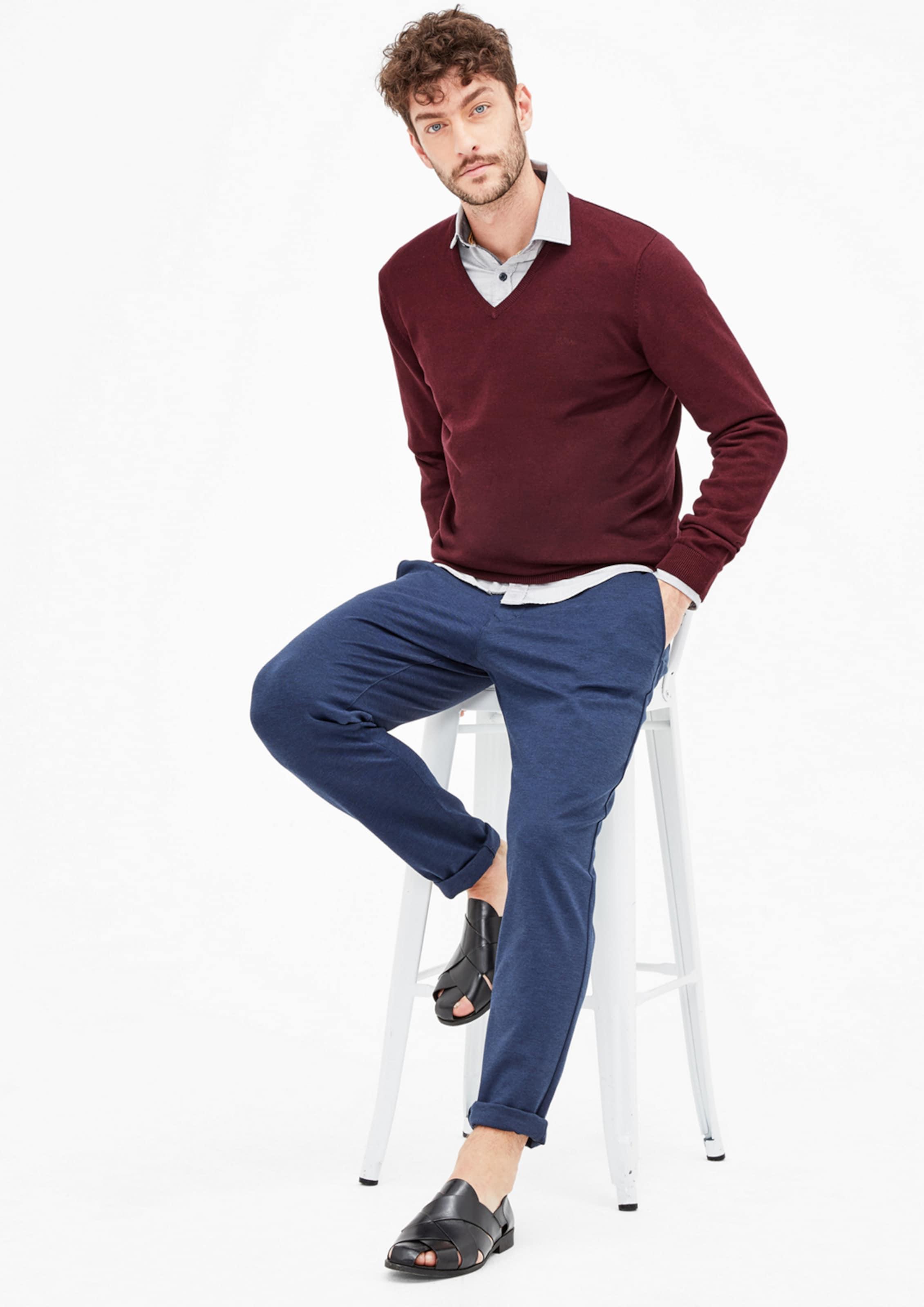 Rabatt-Outlet-Store Wiki Zum Verkauf s.Oliver RED LABEL Pullover? mit V-Ausschnitt Günstig Kaufen Low-Cost Die Besten Preise Günstig Online Auslassstellen Günstiger Preis xfSlscm