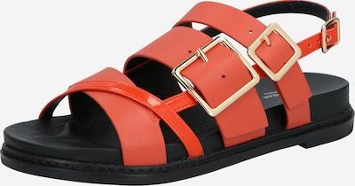 Shoe The Bear Sandale 'JOY MULTI STRAP L' in orangerot / schwarz, Produktansicht
