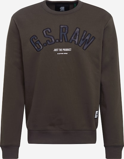 G-Star RAW Sweatshirt 'Graphic 12 slim' in de kleur Donkergroen, Productweergave