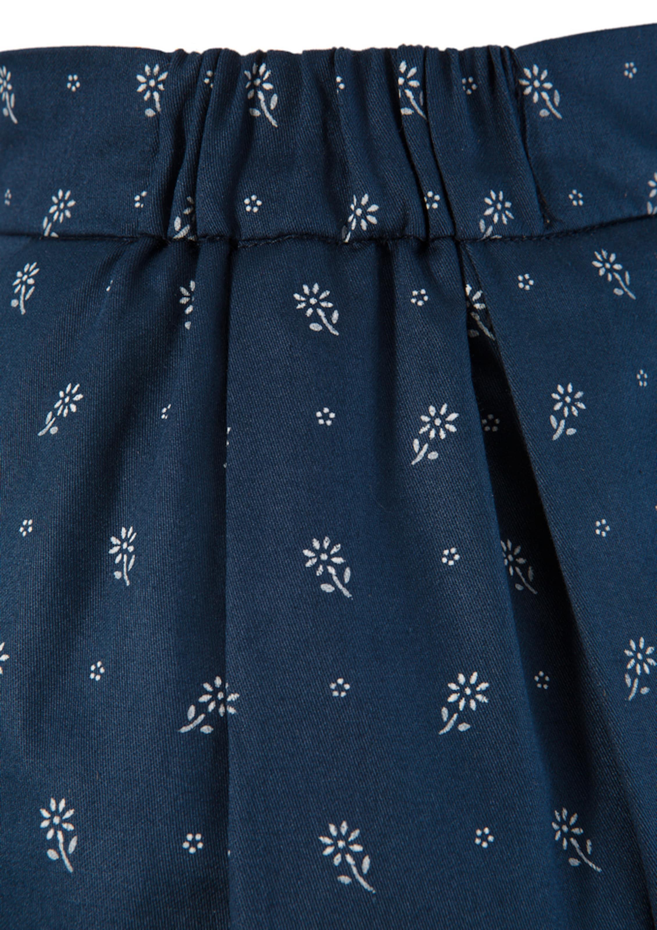 TURI LANDHAUS Trachtenrock in dunkelblau / weiß