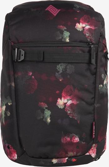 NitroBags Rucksack in beige / grasgrün / rot / schwarz, Produktansicht