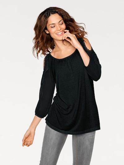 heine Blusenshirt in schwarz, Modelansicht