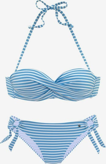 s.Oliver Bikini en bleu / blanc, Vue avec produit