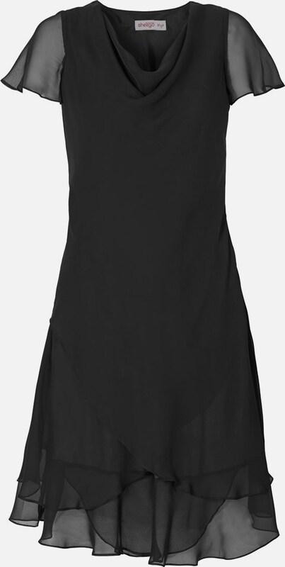 Sheego style Kleid mit Volants in schwarz  Neue Kleidung in dieser Saison