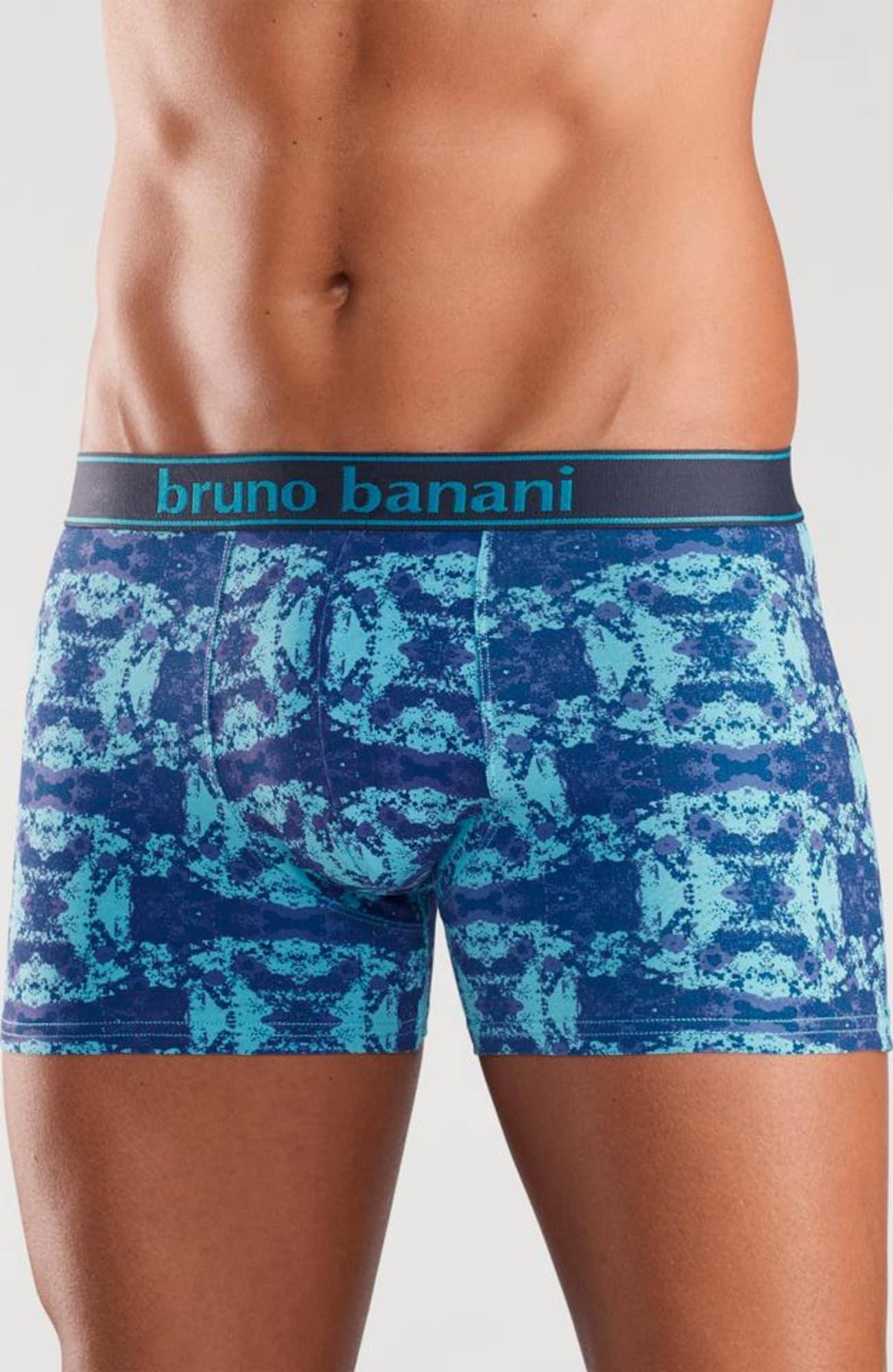 bruno banani boxer short 2 st ck mit modischem druck in blau about you. Black Bedroom Furniture Sets. Home Design Ideas