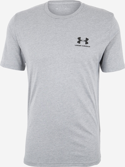 UNDER ARMOUR Performance Shirt 'Sportstyle' in mottled grey / Black, Item view