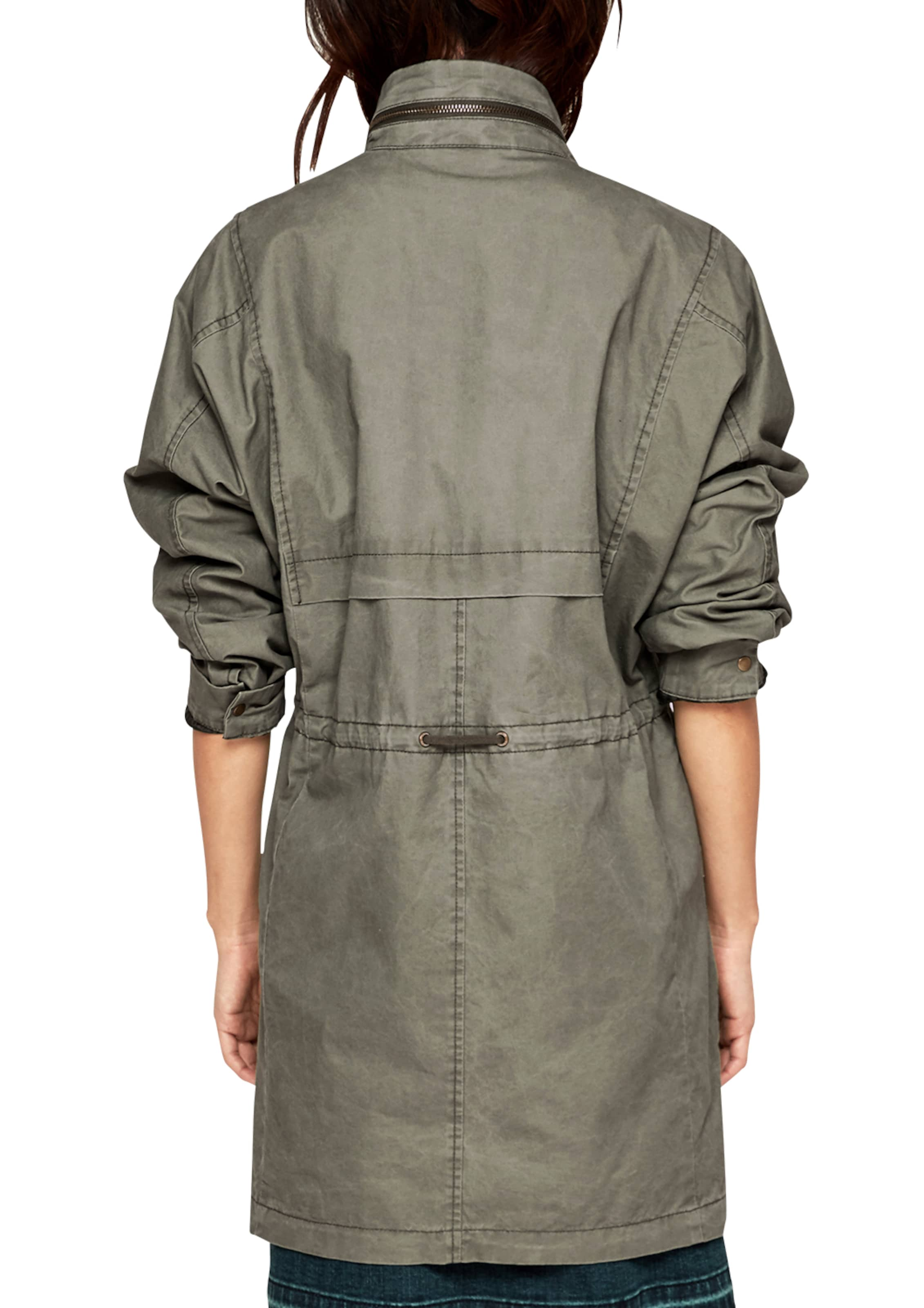 Spielraum Größte Lieferant s.Oliver RED LABEL Twill-Mantel mit Waschung Mode-Stil Zu Verkaufen Kostengünstig Webseite Günstiger Preis fsbWtGE